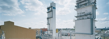 Hydrogen liquefier and air separation unit at Leuna, Germany.